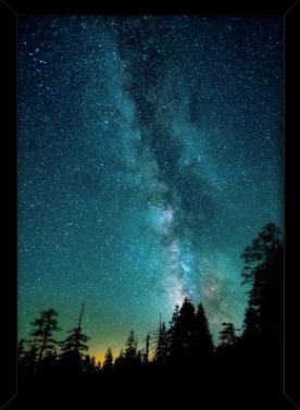 céu galáctico - poster