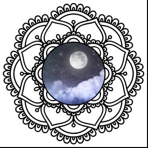 mandala lunar - adesivo