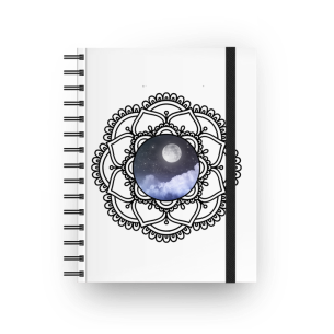 mandala lunar - caderno