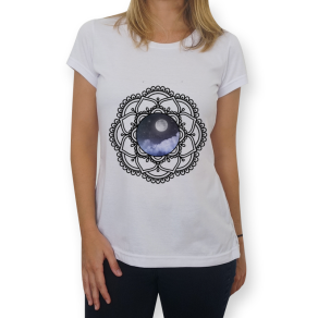 mandala lunar - camiseta