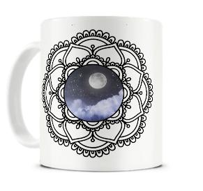 mandala lunar - caneca