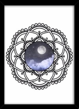 mandala lunar - poster