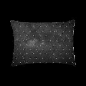 zodíaco espacial - almofada retangular